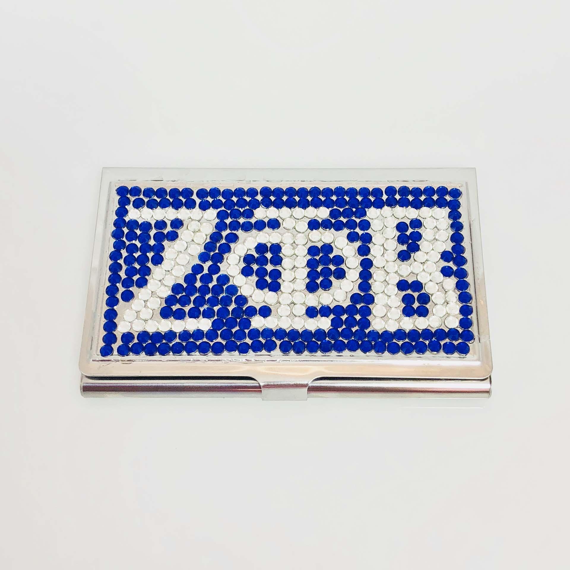 rhinestone business card holder colourmoves